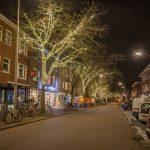 Hoytemastraat kerst bij nacht